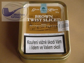 dýmkový tabák Gawith Hoggarth Brown Twist Sliced 50g